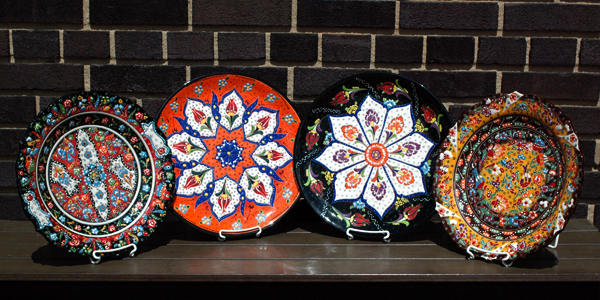 Made in the Turkish city of Kutahya these 12 Inch hand painted ceramic plates are food-safe for serving finger food items. Due to their ceramic nature ... & 12 Inch Hand Painted Ceramic Plates |